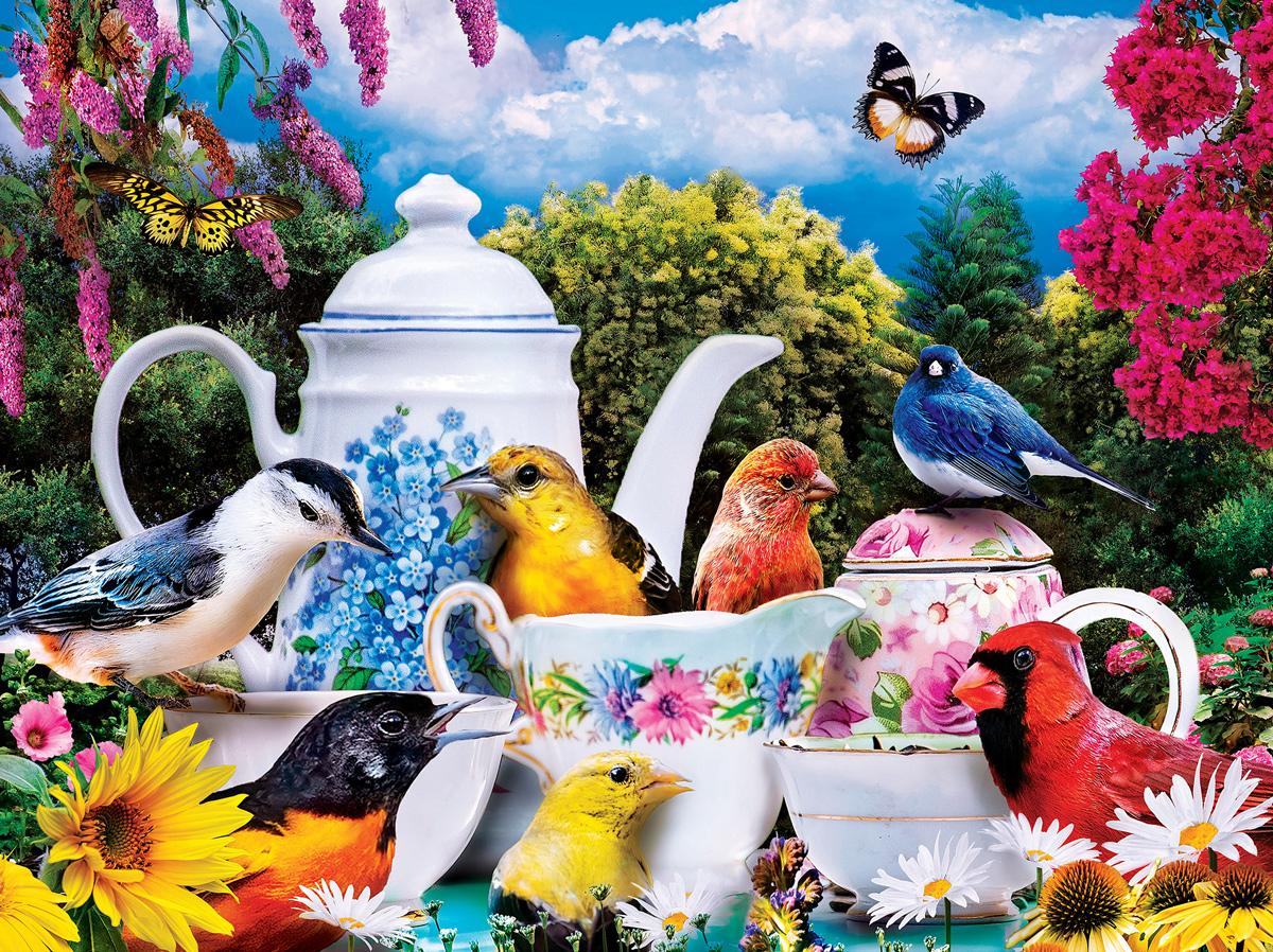 Garden Party Birds Jigsaw Puzzle