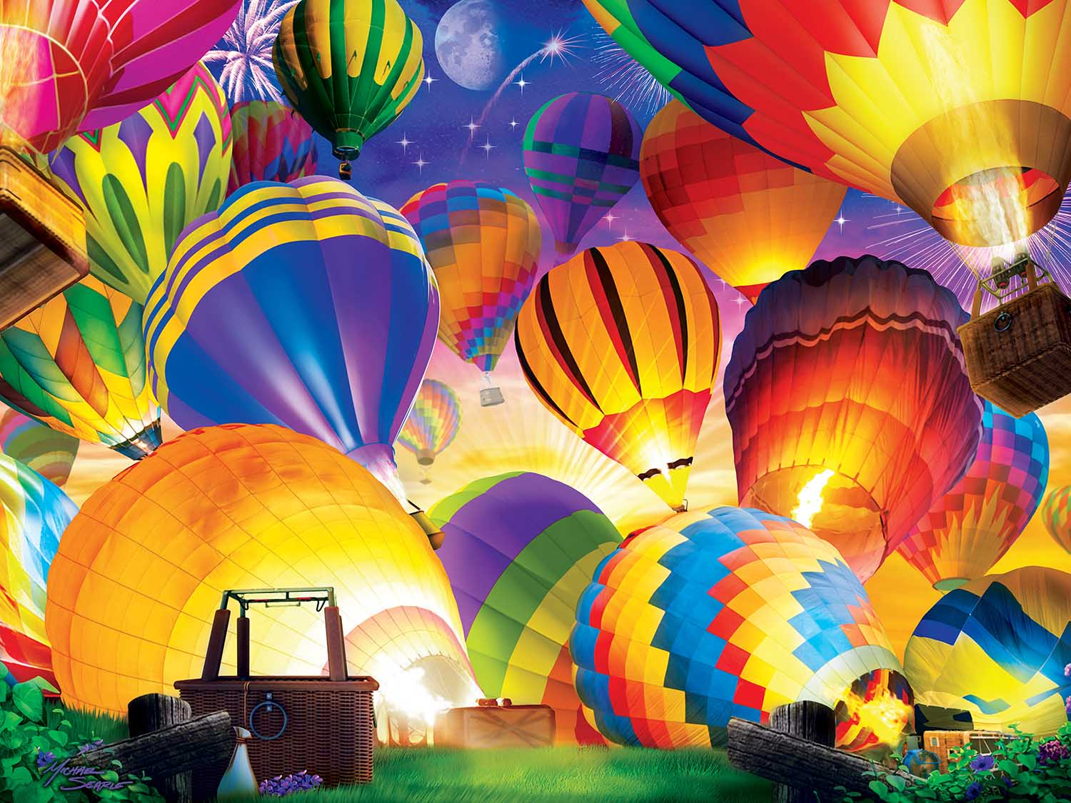 Taking Flight Balloons Glow in the Dark Puzzle