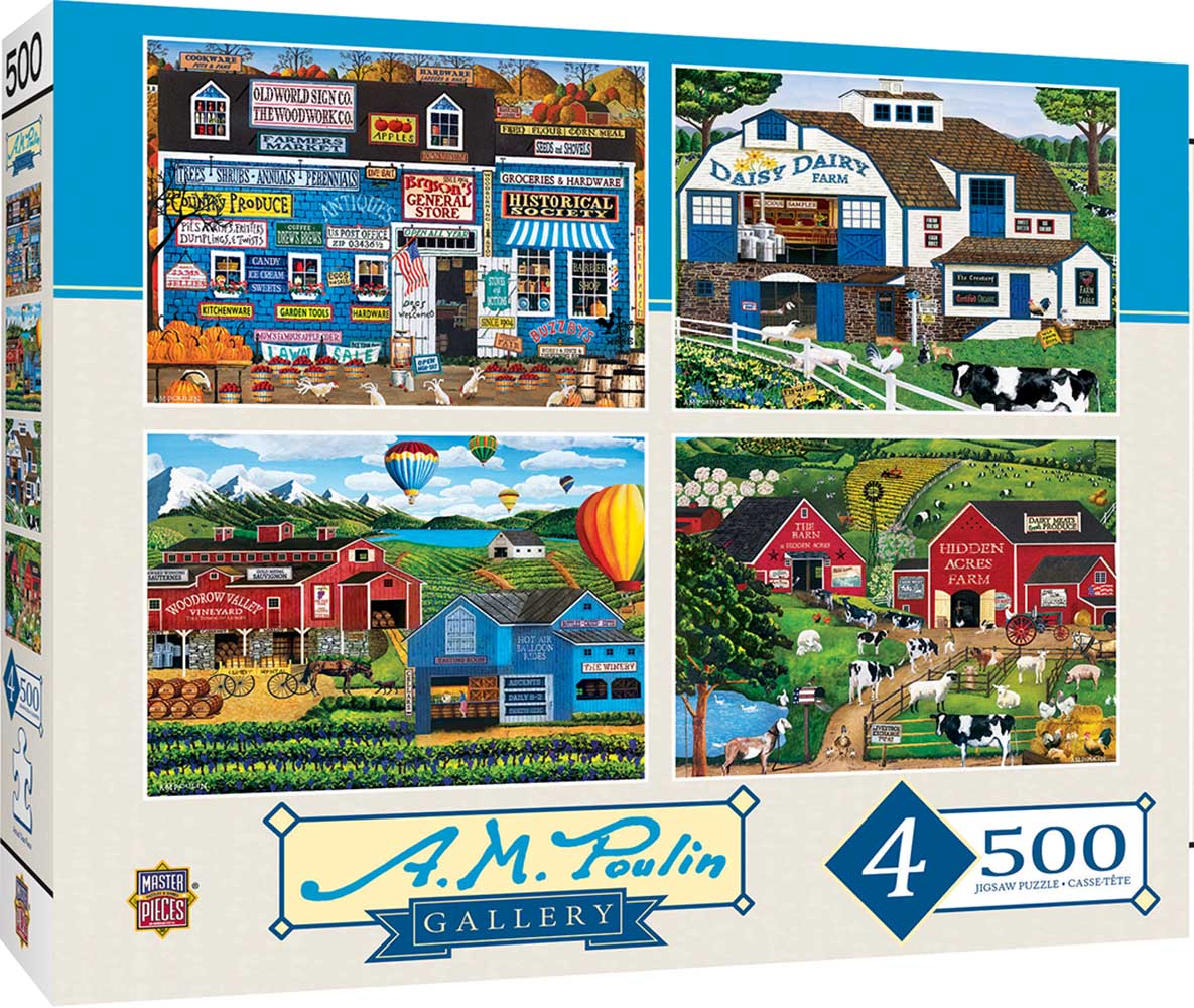 A. M. Poulin - 4-Pack Countryside Jigsaw Puzzle