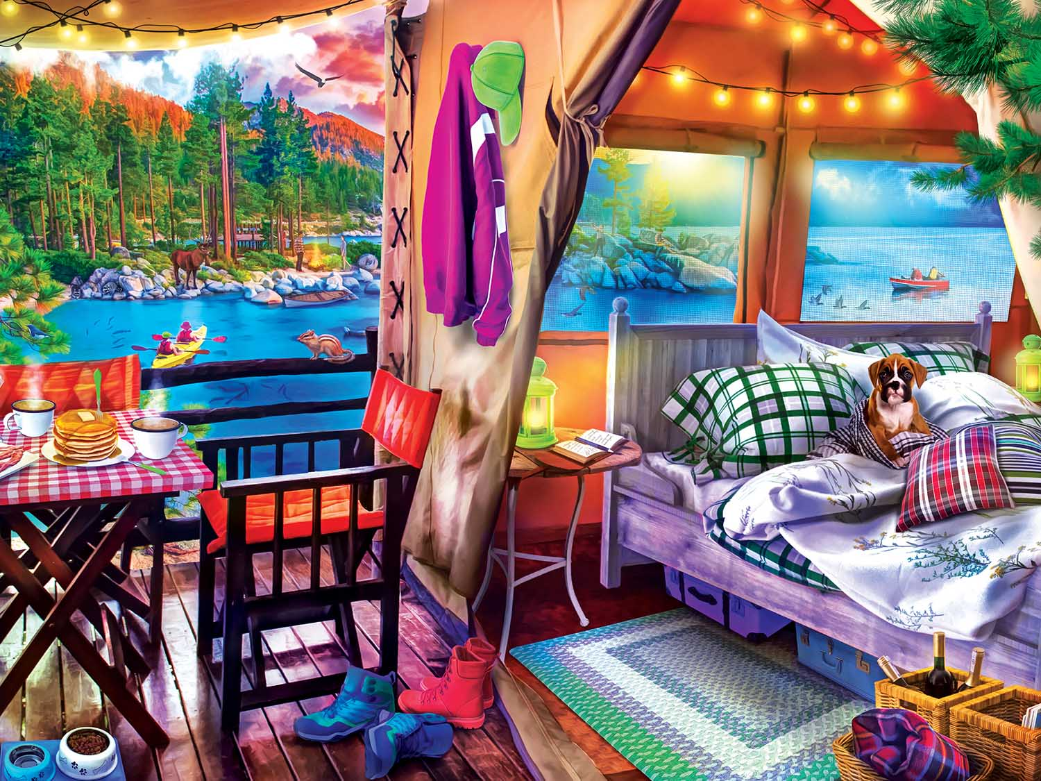 Glamping Style Outdoors Jigsaw Puzzle