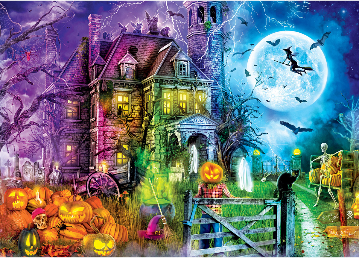 Halloween Terrors Fall Glow in the Dark Puzzle