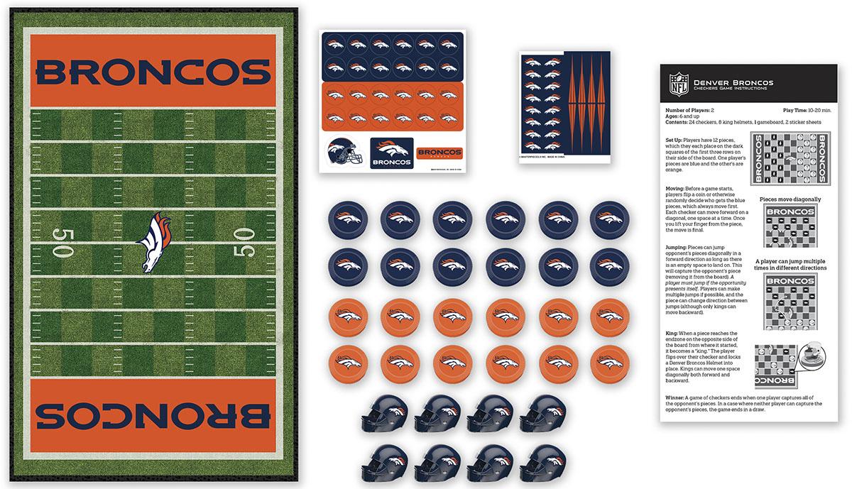 Denver Broncos Checkers