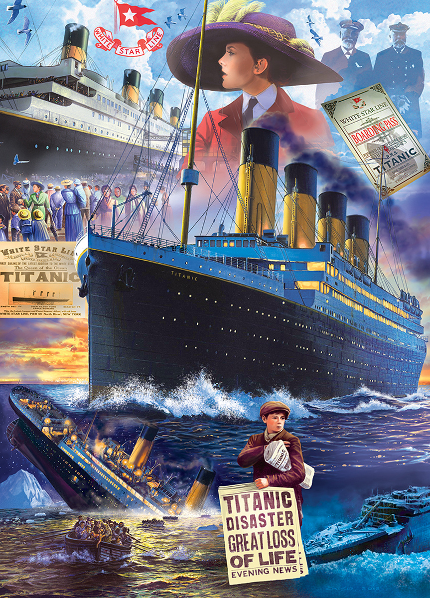 Titanic Collage Boats Jigsaw Puzzle