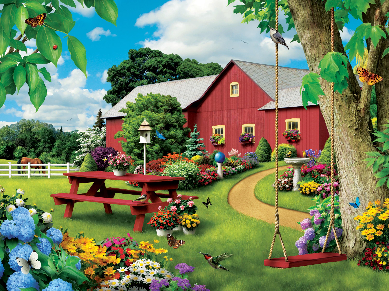 Picnic Paradise Summer Jigsaw Puzzle