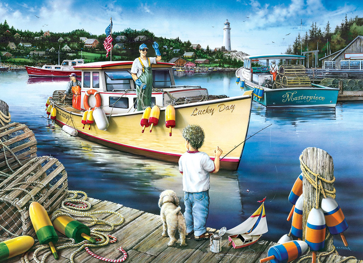 Lucky Day Boats Jigsaw Puzzle