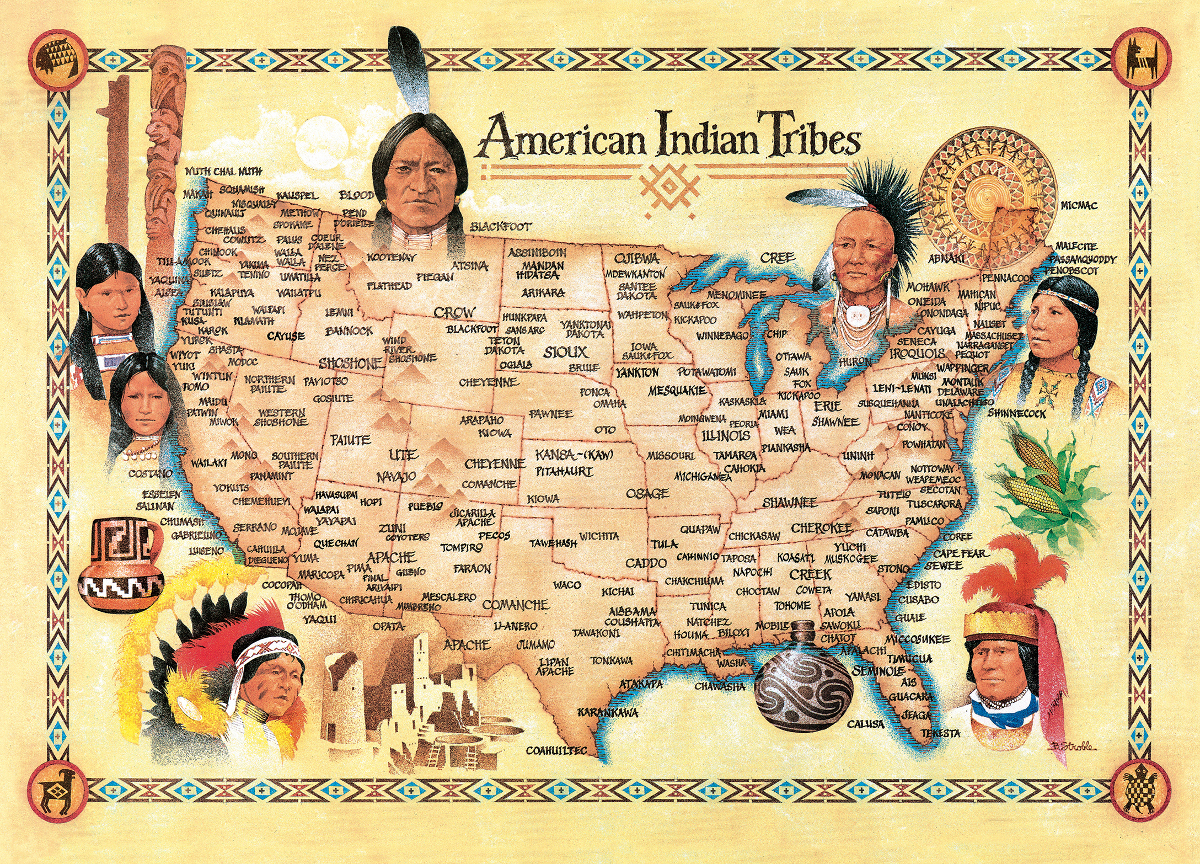 American Indian Tribes Educational Jigsaw Puzzle