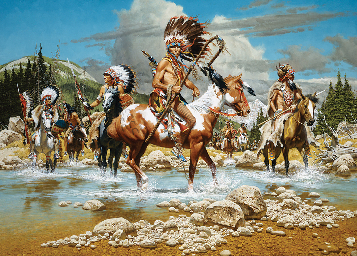The Chiefs Horses Jigsaw Puzzle