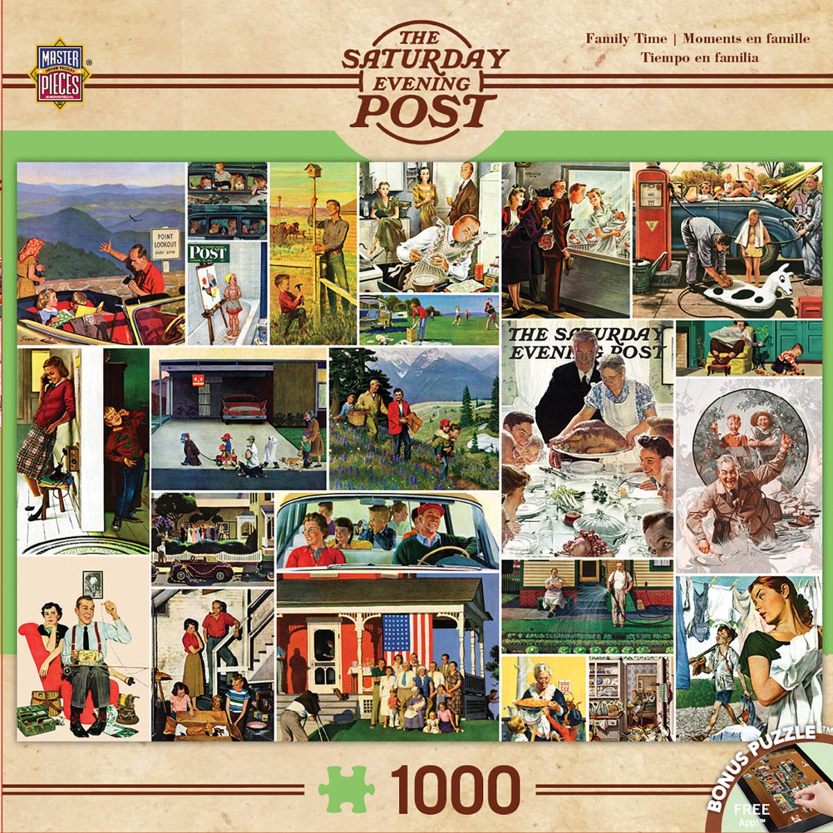Family Time Collage (The Saturday Evening Post) Nostalgic / Retro Jigsaw Puzzle