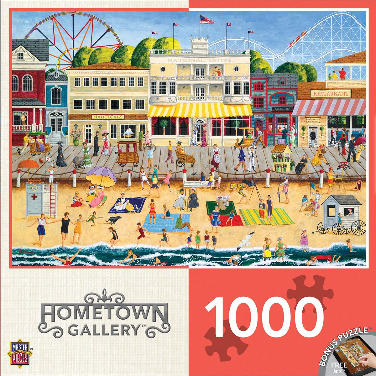 On the Boardwalk Beach Jigsaw Puzzle