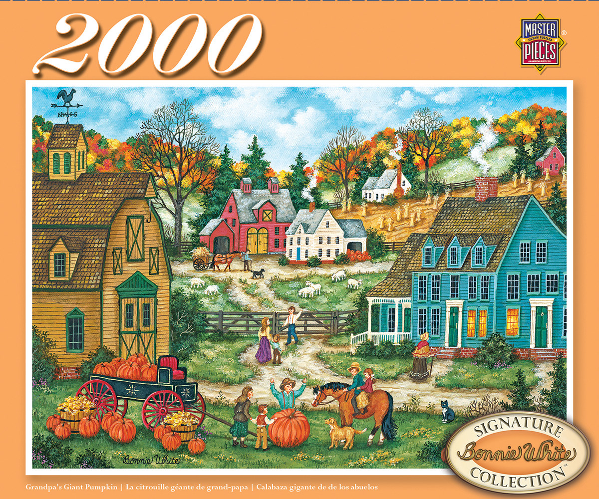 Grandpa's Giant Pumpkin - Scratch and Dent Countryside Jigsaw Puzzle