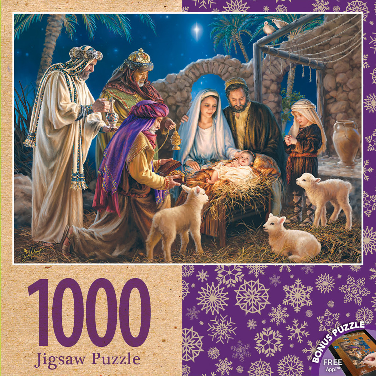 A Child is Born Religious Jigsaw Puzzle
