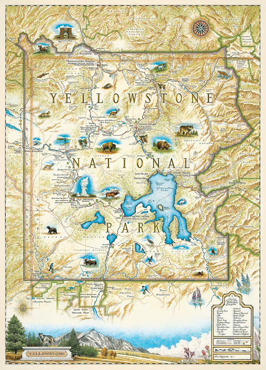 It is a photo of Transformative Printable Map of Yellowstone