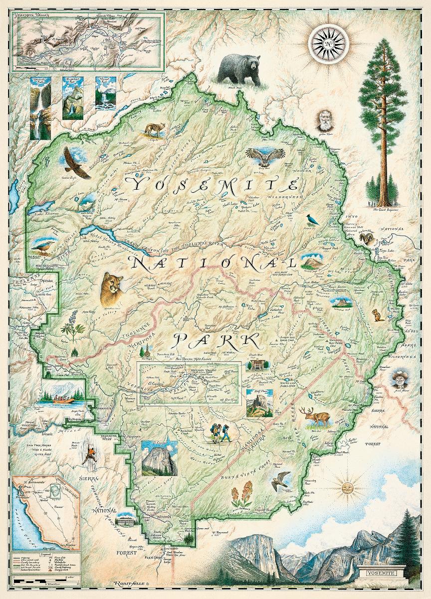 Yosemite National Park (Xplorer Maps) Maps / Geography Jigsaw Puzzle
