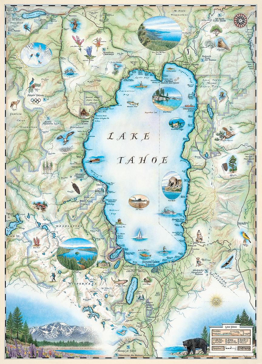Lake Tahoe (Xplorer Maps) Jigsaw Puzzle | PuzzleWarehouse.com