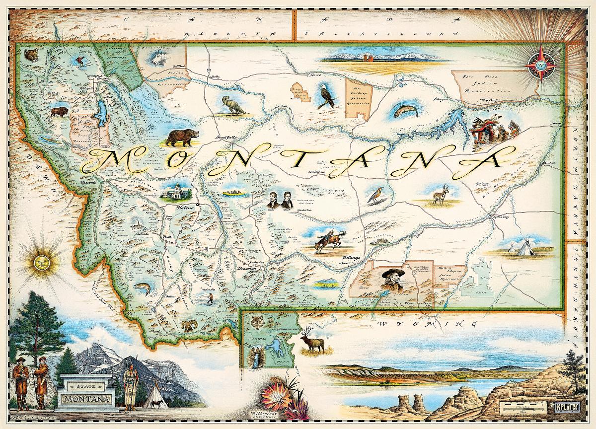 Aquarius Puzzles Subway Map.Montana