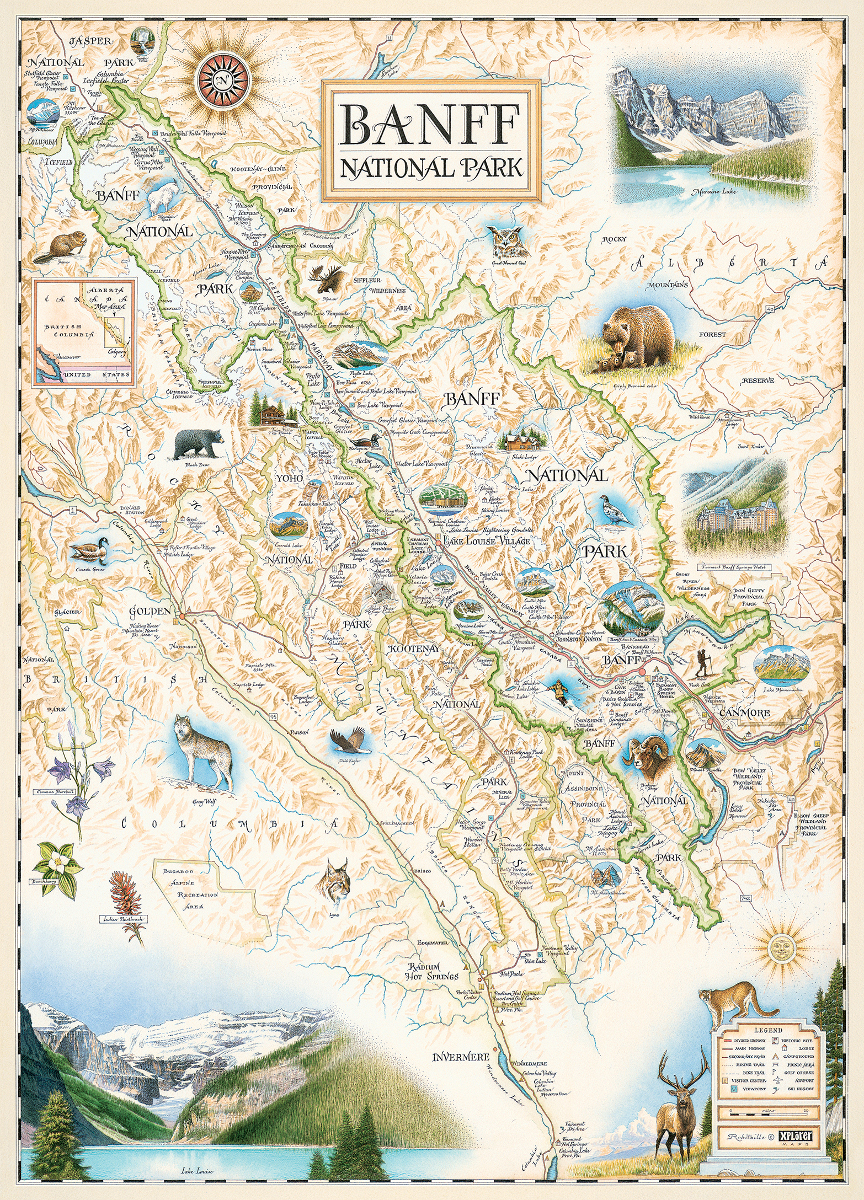 Banff National Park (Xplorer Maps) Maps / Geography Jigsaw Puzzle