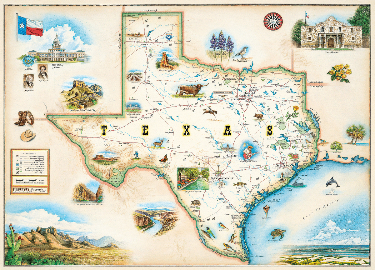 Texas (Xplorer Maps) Jigsaw Puzzle | PuzzleWarehouse.com