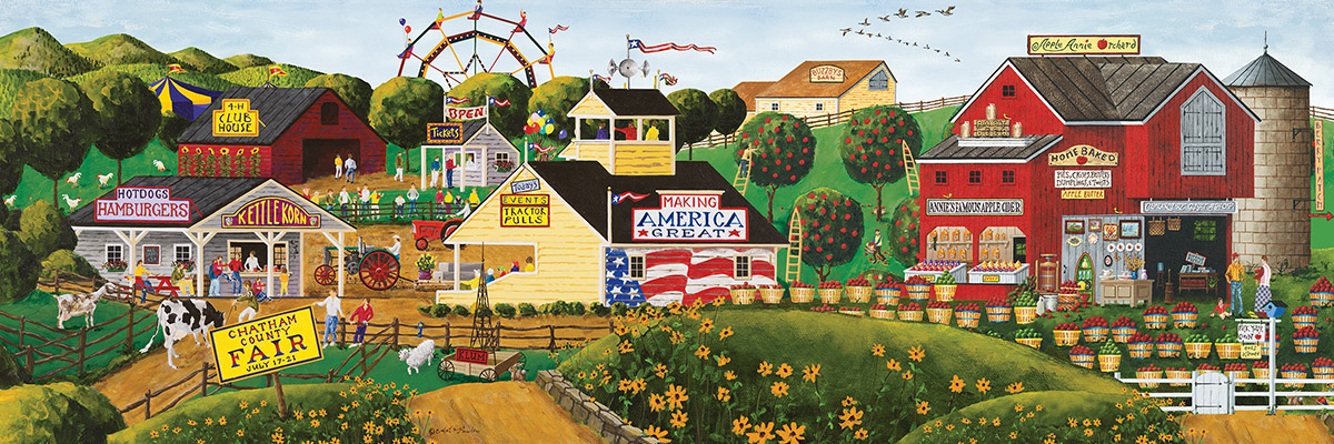 Apple Annie's Carnival Time - Scratch and Dent Americana & Folk Art Jigsaw Puzzle