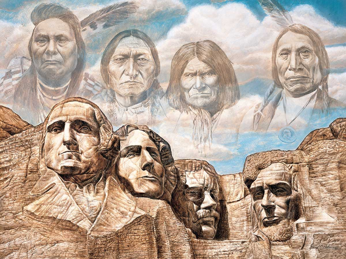 Founding Fathers Landmarks / Monuments Jigsaw Puzzle
