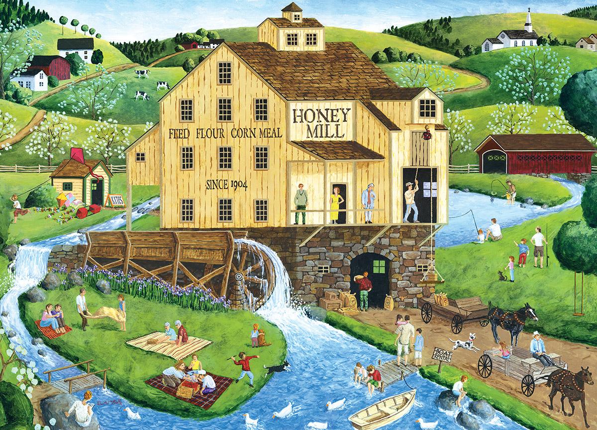 Honey Mill - Scratch and Dent Americana & Folk Art Jigsaw Puzzle