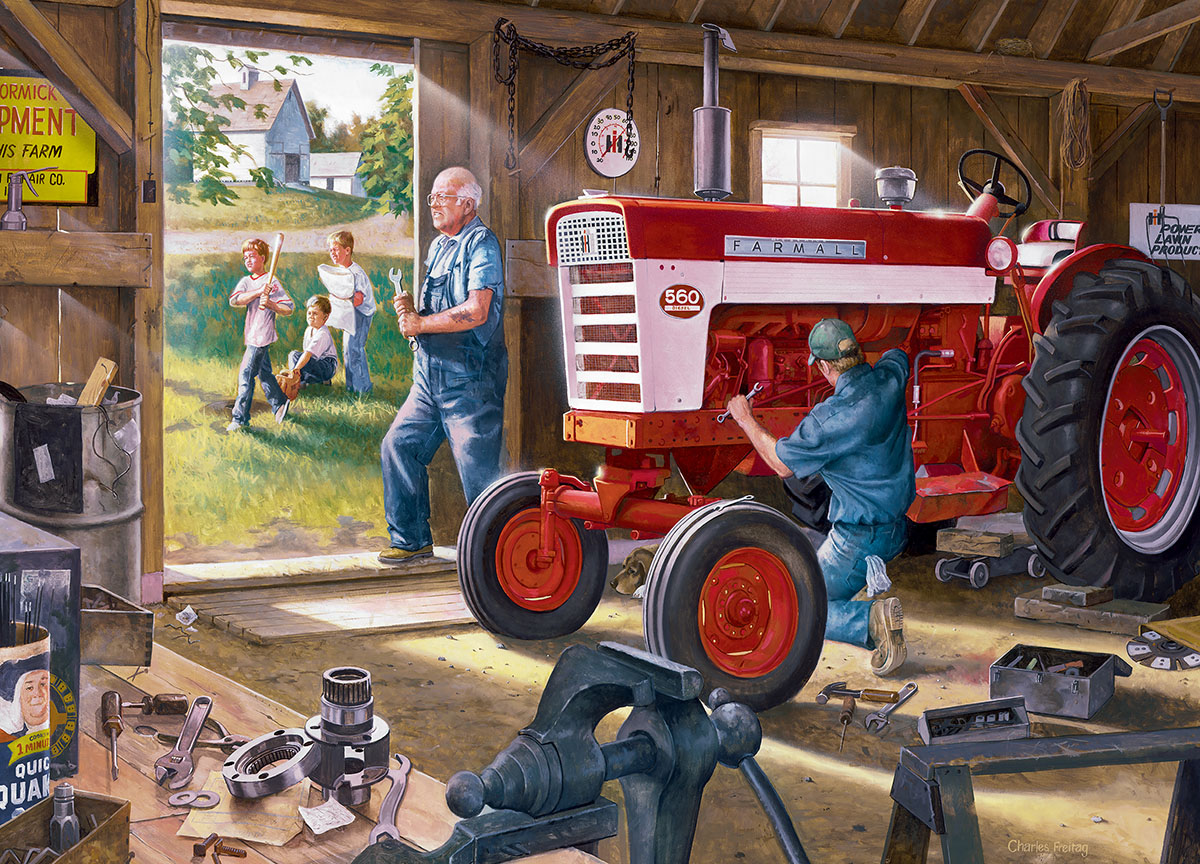 Red Power Farm Jigsaw Puzzle