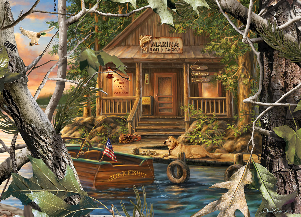 Gone Fishing Fishing Jigsaw Puzzle