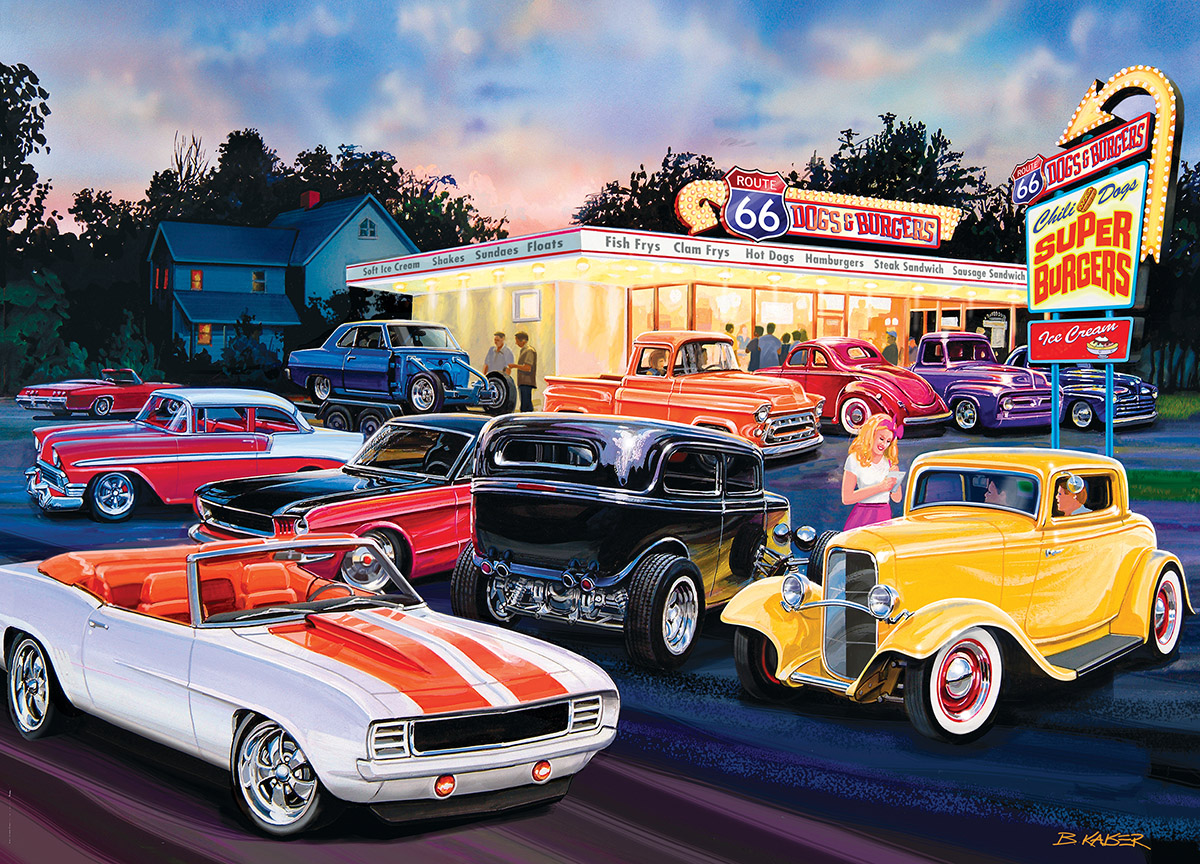 Dogs & Burgers Vehicles Jigsaw Puzzle