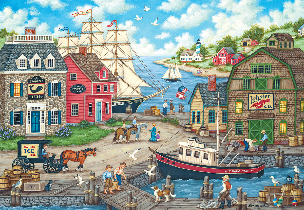 Seagull's Delight Boats Jigsaw Puzzle