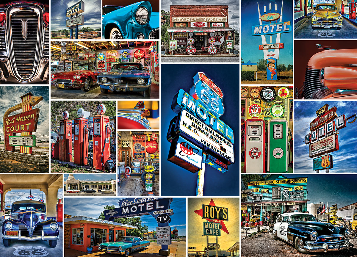 Route 66 Cars Jigsaw Puzzle