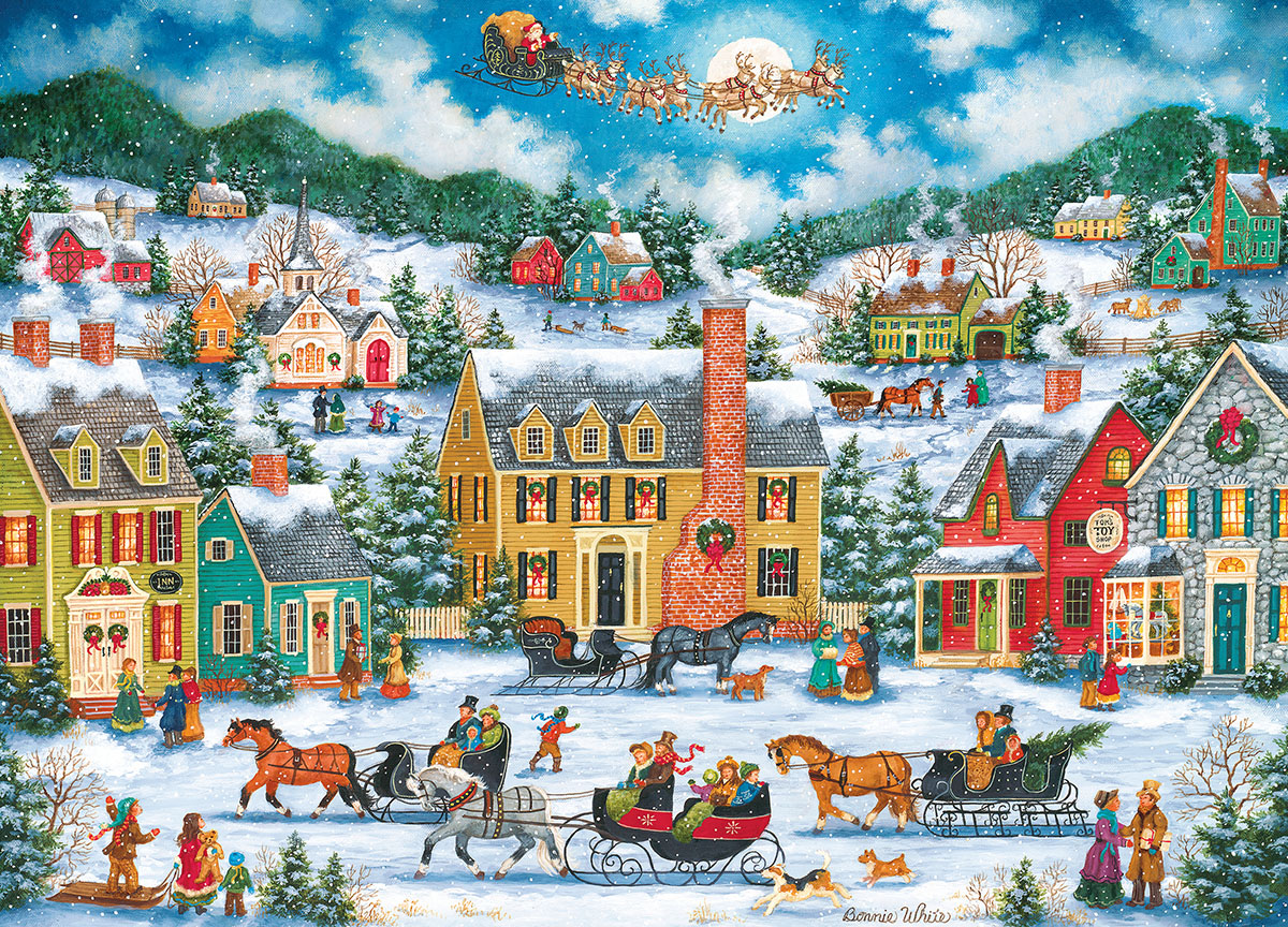 Christmas Eve Fly By Christmas Jigsaw Puzzle