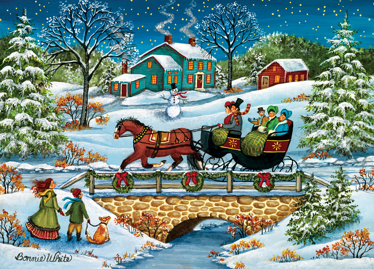 Over the River Christmas Jigsaw Puzzle