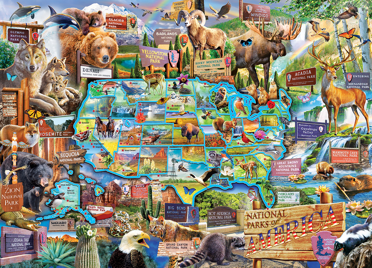 National Parks of America - Scratch and Dent Animals Jigsaw Puzzle