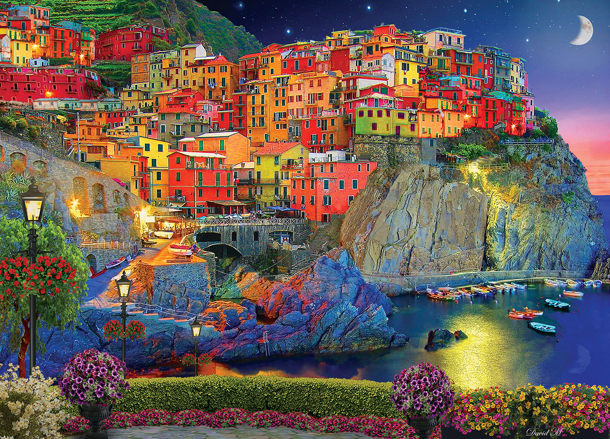 Evening Glow Italy Jigsaw Puzzle