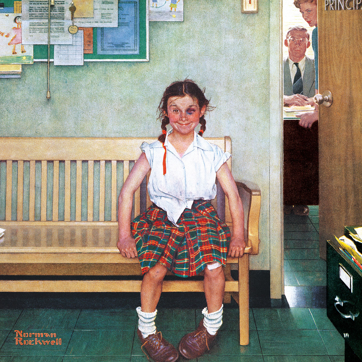 The Shiner (Saturday Evening Post Norman Rockwell) - Scratch and Dent Nostalgic / Retro Jigsaw Puzzle