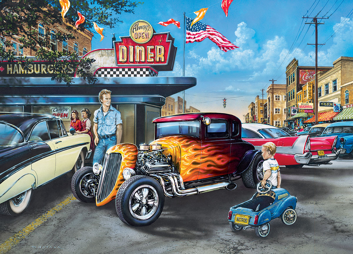 Hot Rods and Milkshakes (Childhood Dreams) Vehicles Jigsaw Puzzle