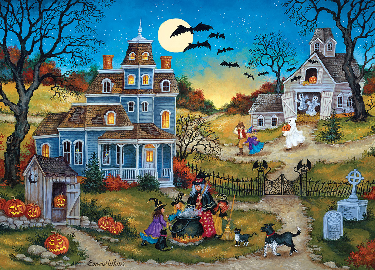 Halloween - Three Little Witches - Scratch and Dent Halloween Jigsaw Puzzle