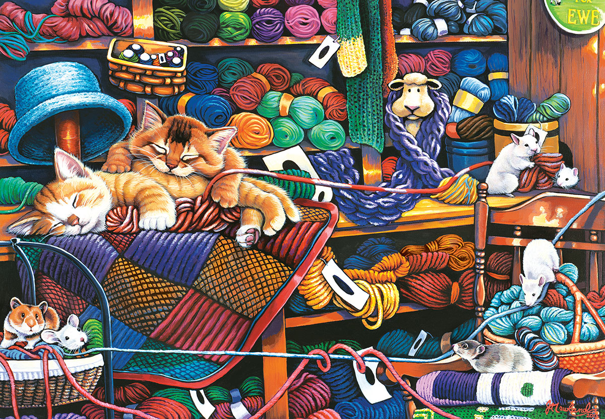 Knittin Kittens - Scratch and Dent Crafts & Textile Arts Jigsaw Puzzle