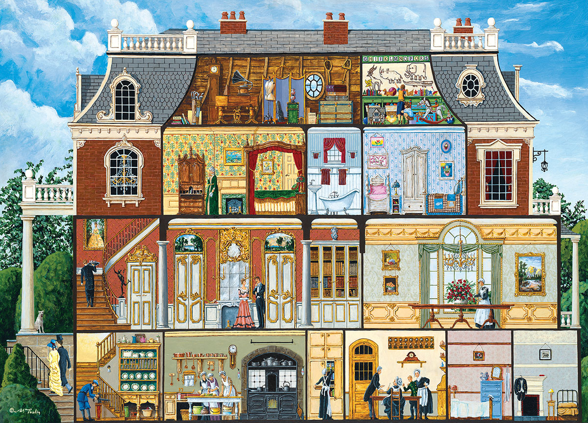 Walden's Manor House (Inside Out) Domestic Scene Jigsaw Puzzle