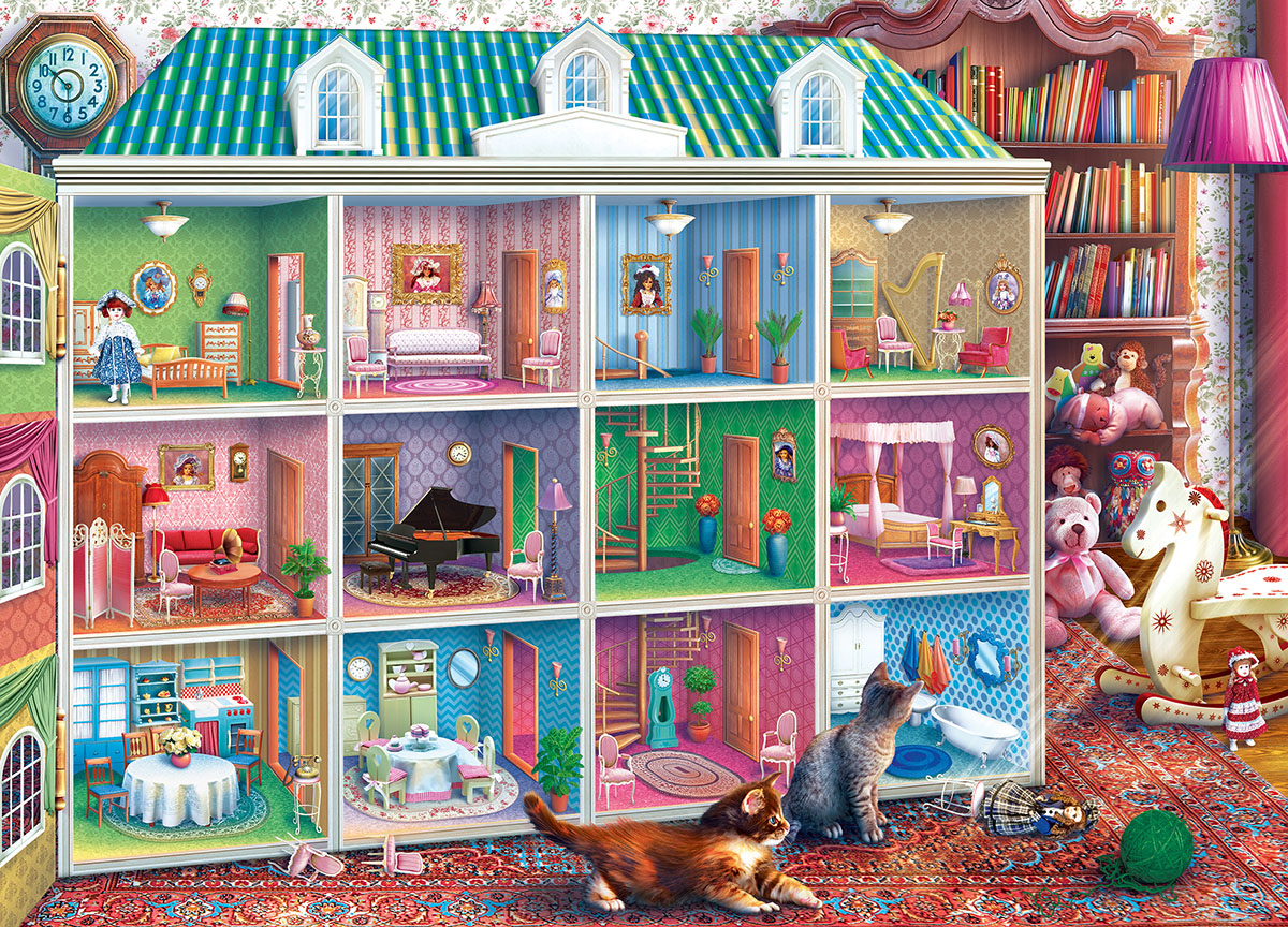 Sophia's Dollhouse Domestic Scene Jigsaw Puzzle