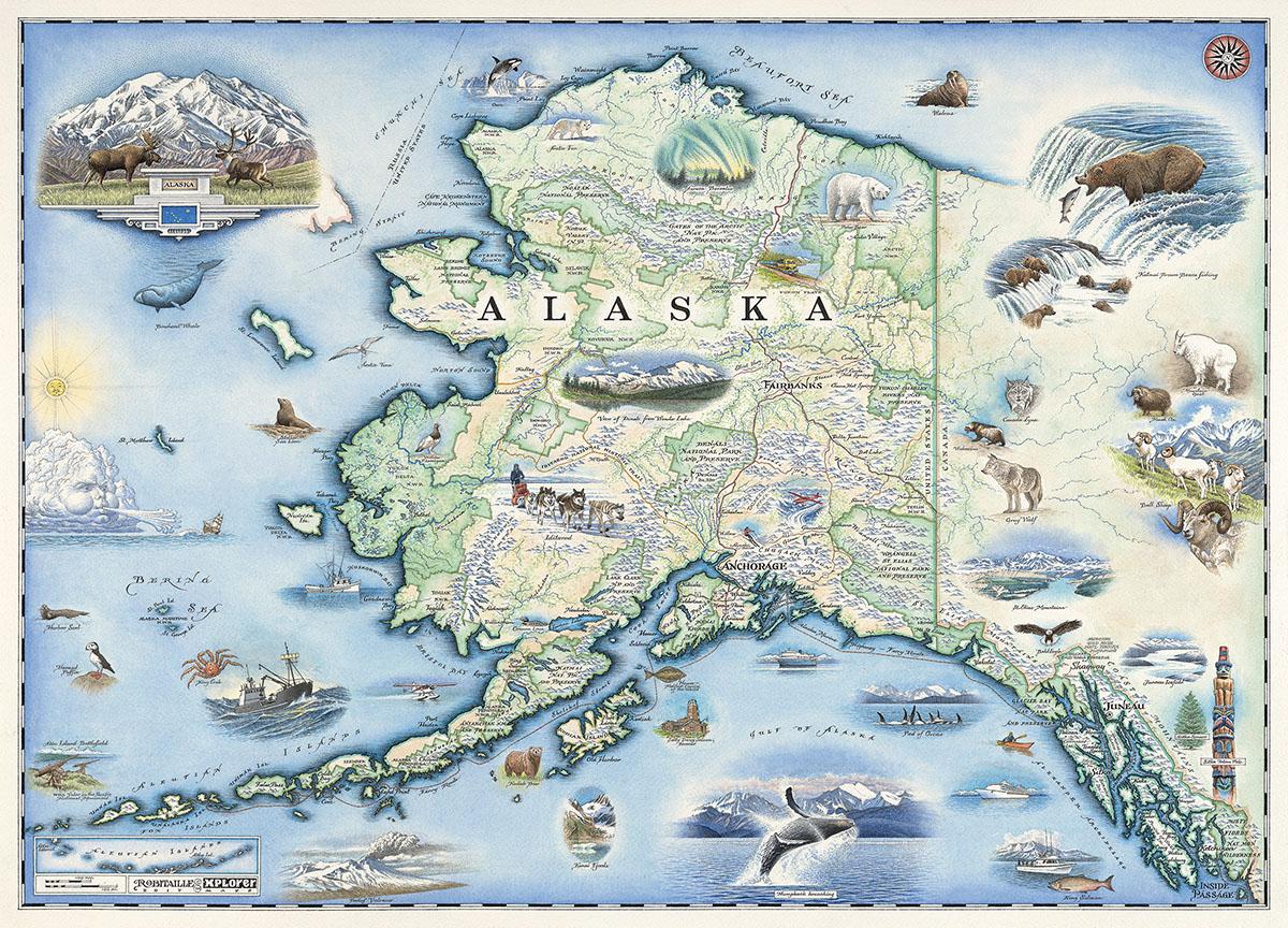 Xplorer Maps Alaska 1000pc Puzzle Jigsaw Puzzle Puzzlewarehouse Com