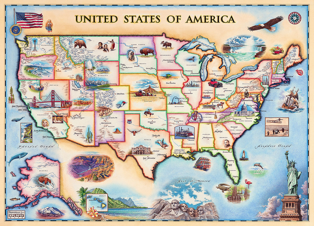 USA Map (Xplorer Maps)