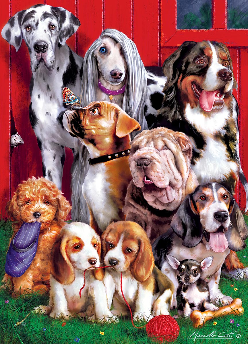 Sitting Pretty - Scratch and Dent Dogs Jigsaw Puzzle
