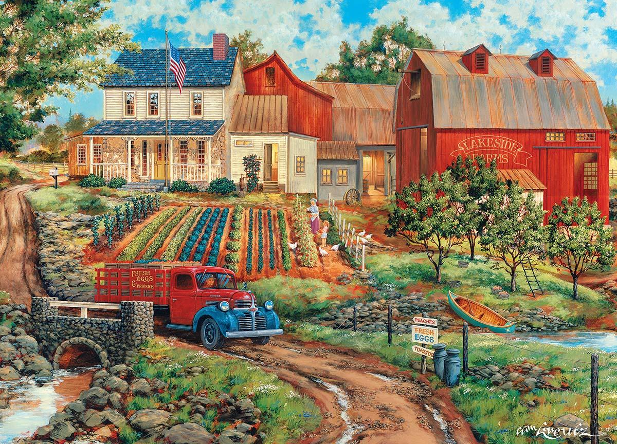 Grandma's Garden Farm Jigsaw Puzzle