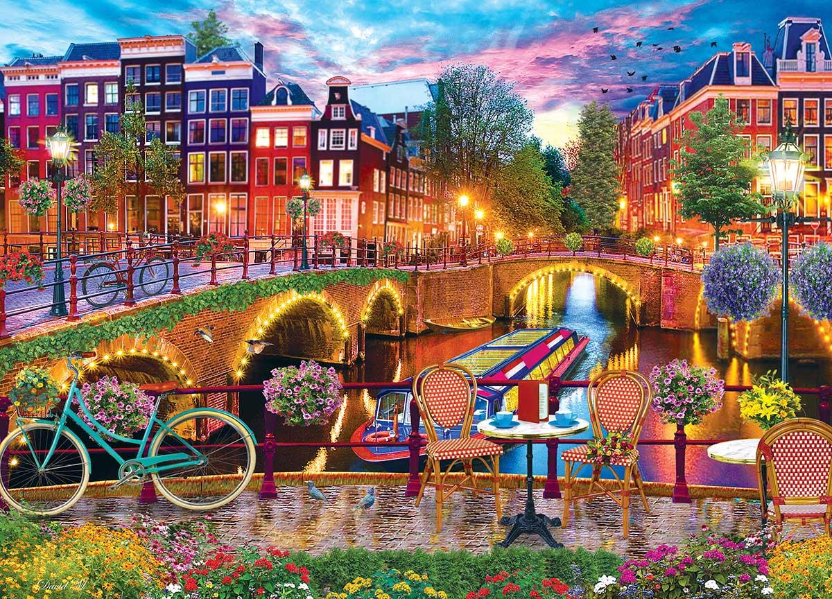 Amsterdam Lights Street Scene