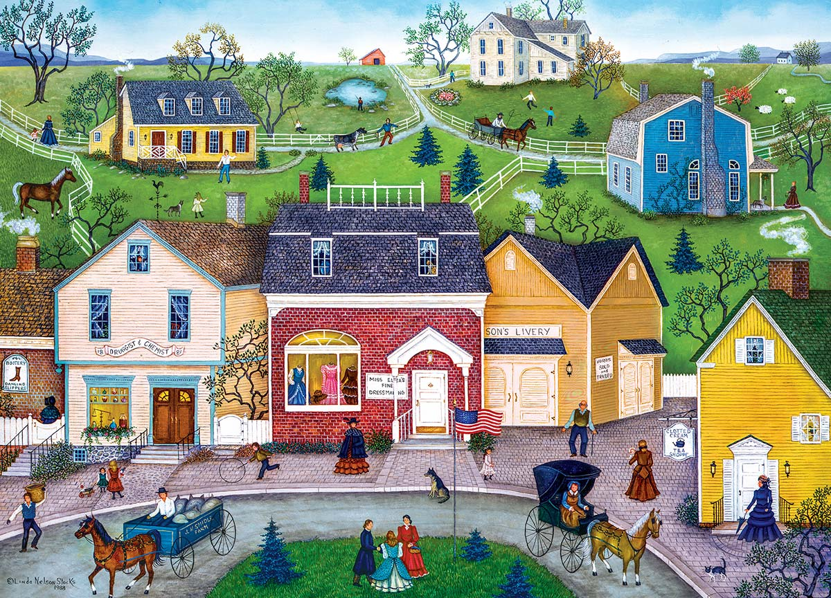The Dress Shop Americana & Folk Art Jigsaw Puzzle