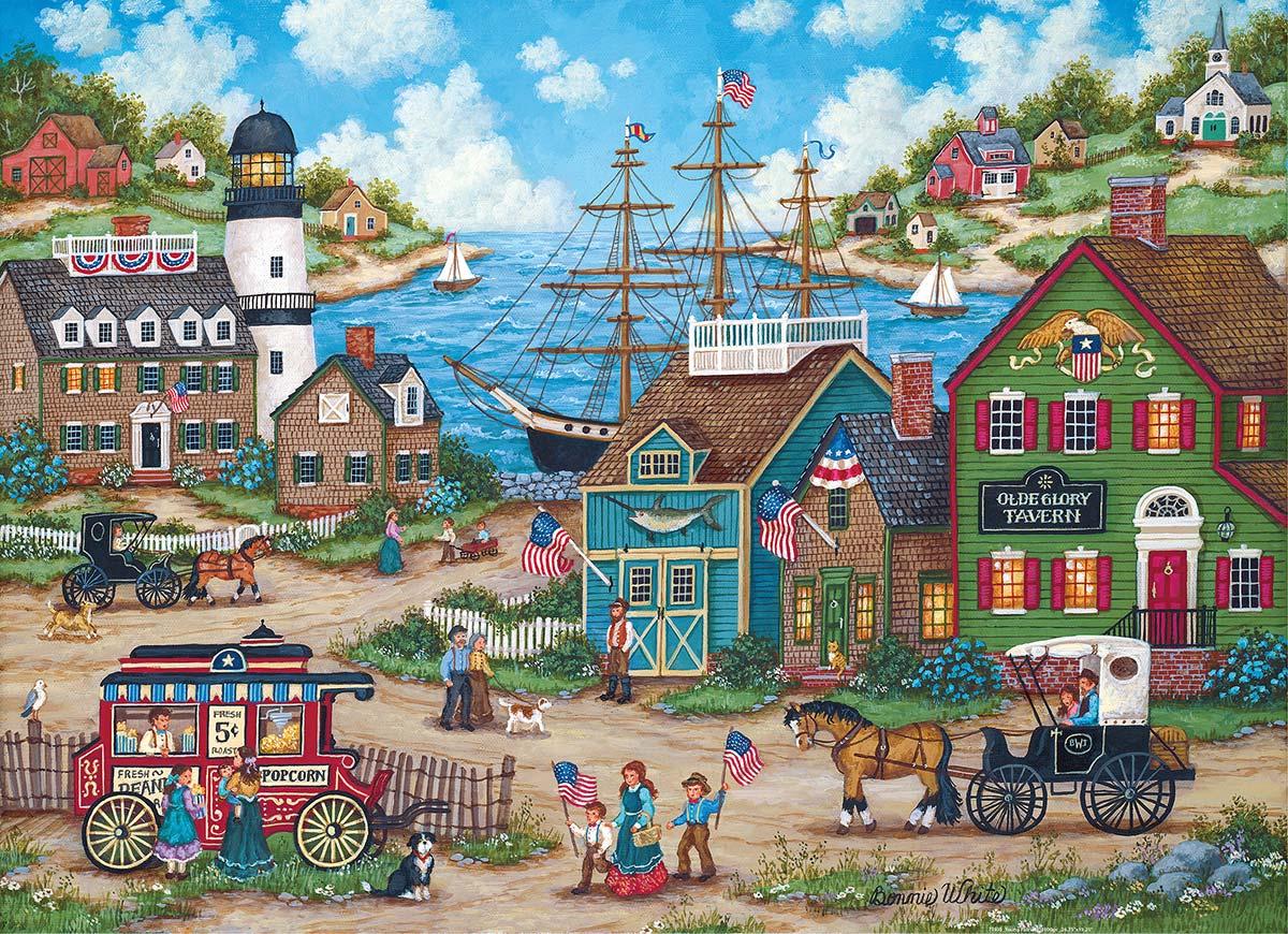 The Young Patriots Americana & Folk Art Jigsaw Puzzle