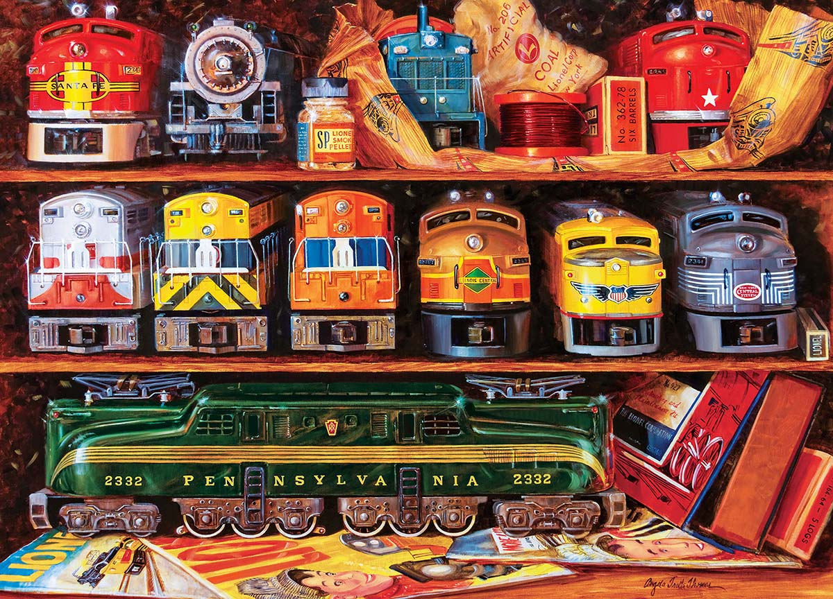 Well Stocked Shelves Trains Jigsaw Puzzle