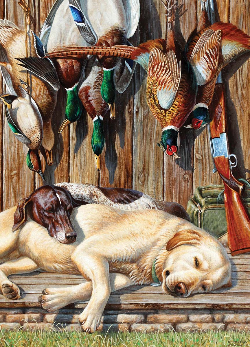 All Tuckered Out Dogs Jigsaw Puzzle