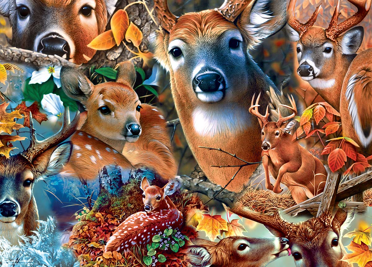 Forest Beauties Animals Jigsaw Puzzle