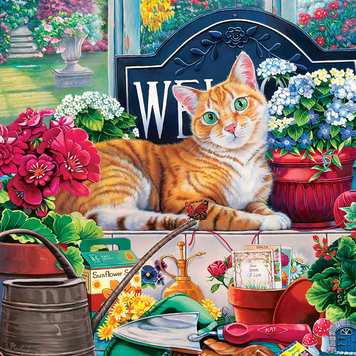 Blossom Cats Jigsaw Puzzle